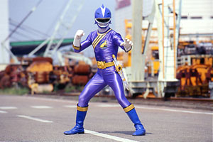 Blue Ranger prepares for battle