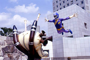 Blue Ranger attacking Whistle Org