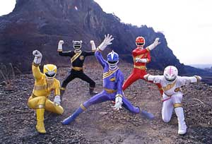Blue Ranger leading the team
